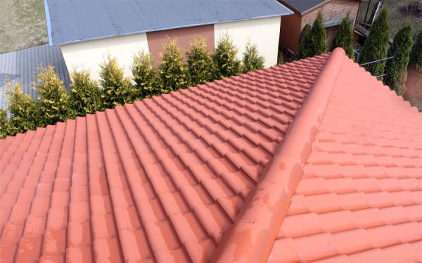 Dach przed impregnacją hydrofobową